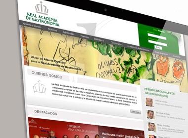 Web Real Academia de Gastronomía